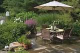 brown stone patiomediterranean landscapingwheeler landscaping inc