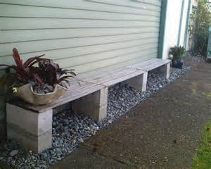 benches simple gardens garden benches cinder blocks concrete block