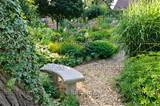image small stone bench in a perennial garden 474448 images and