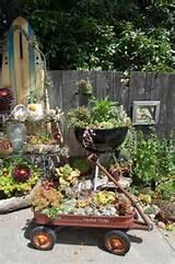 Fun Recycled Succulent Garden | Succulent Garden Ideas | Pinterest