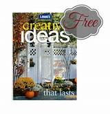 get a Free Subscription to Lowe's Creative Ideas for Home & Garden ...