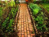 inexpensive garden path ideas brick garden path ideas decozt garden